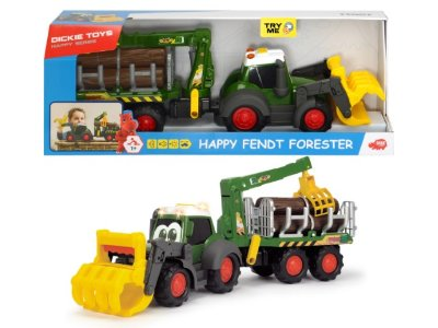 Лесовоз Happy Fendt 65 см свет звук Dickie Toys 3819003