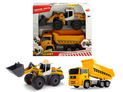 Набор Construction Twin Pack 30 см свет звук Dickie Toys 3726008