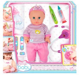 Набор доктора с пупсом PlayBaby ToysLab (Play Baby) 32004